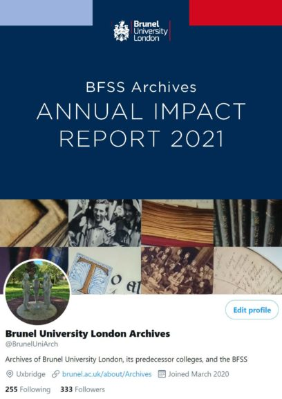 BFSS Archives Annual Impact Report 2021